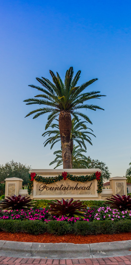 Entrance Sign | Fountainhead at the Vineyards